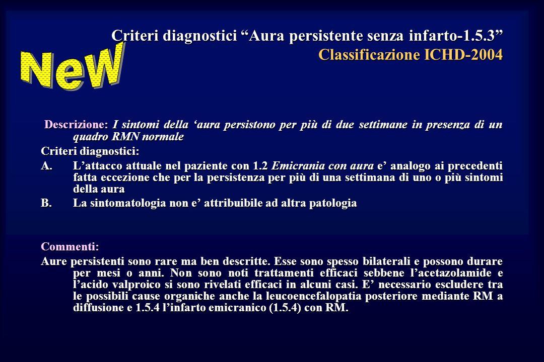 Criteri diagnostici Aura persistente senza infarto-1. 5