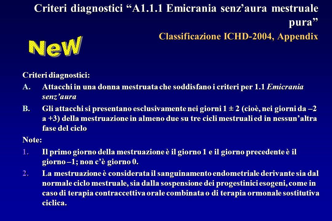 Criteri diagnostici A1. 1