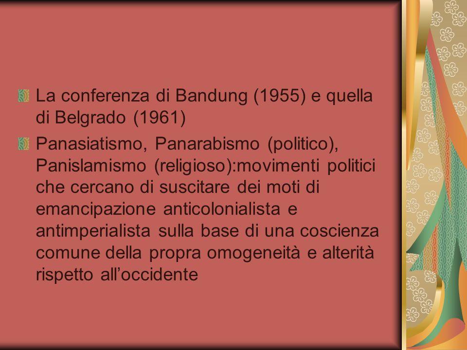 La conferenza di Bandung (1955) e quella di Belgrado (1961)