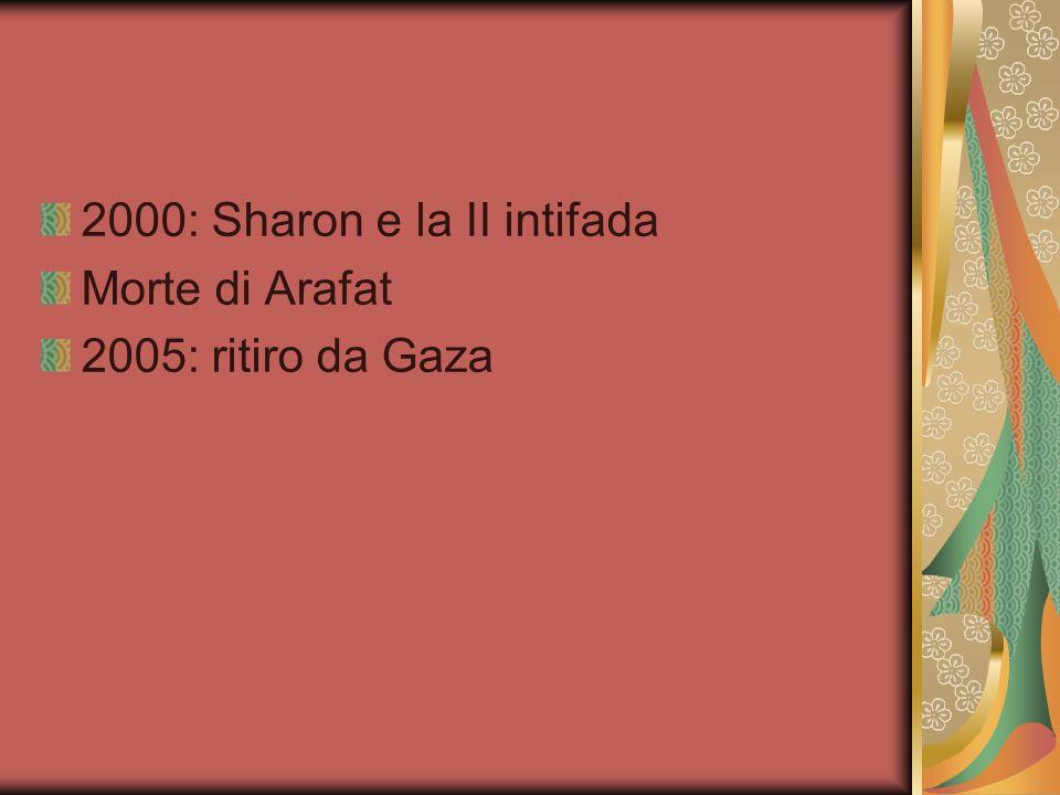 2000: Sharon e la II intifada