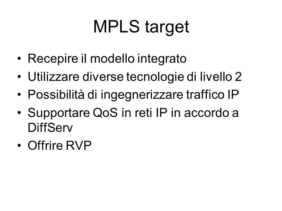 MPLS target Recepire il modello integrato