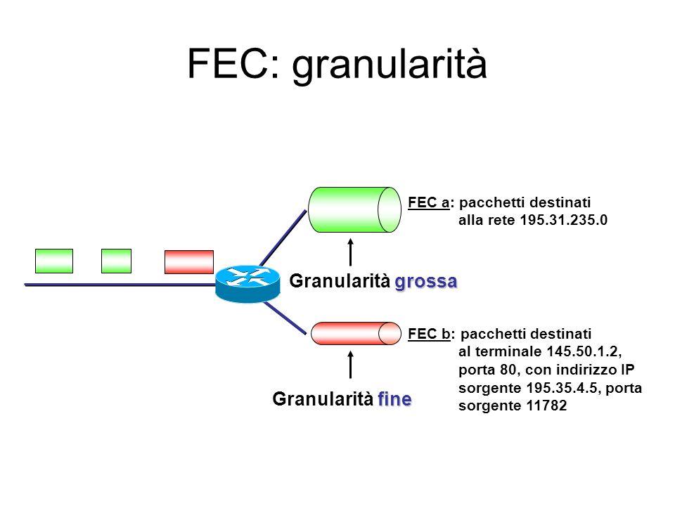 FEC: granularità Granularità grossa Granularità fine