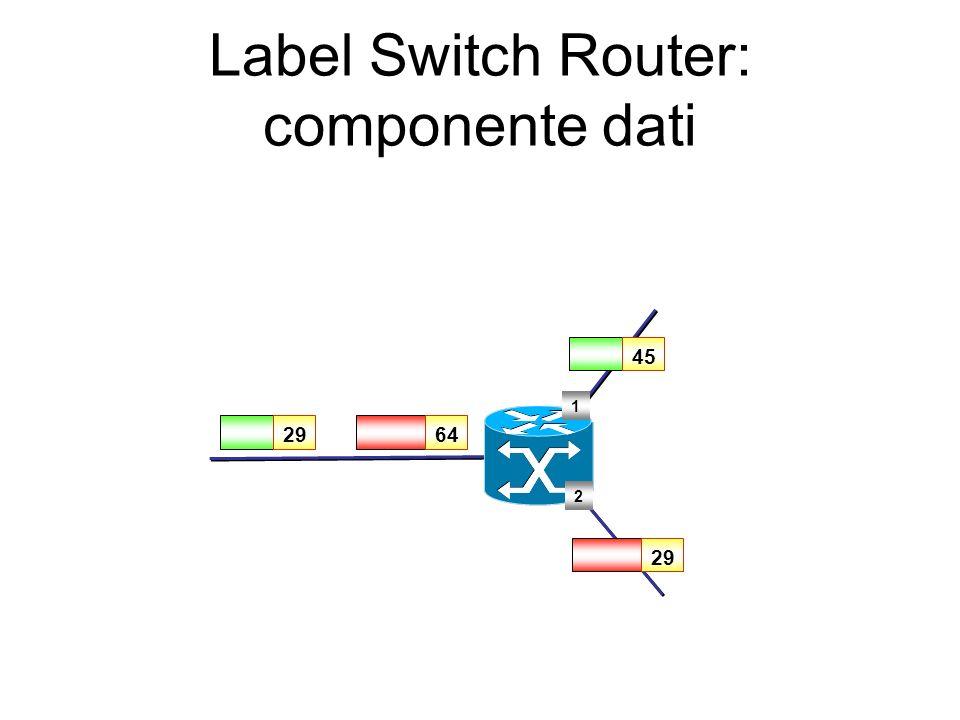 Label Switch Router: componente dati