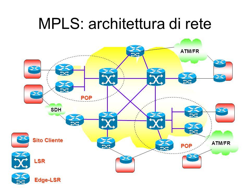 MPLS: architettura di rete