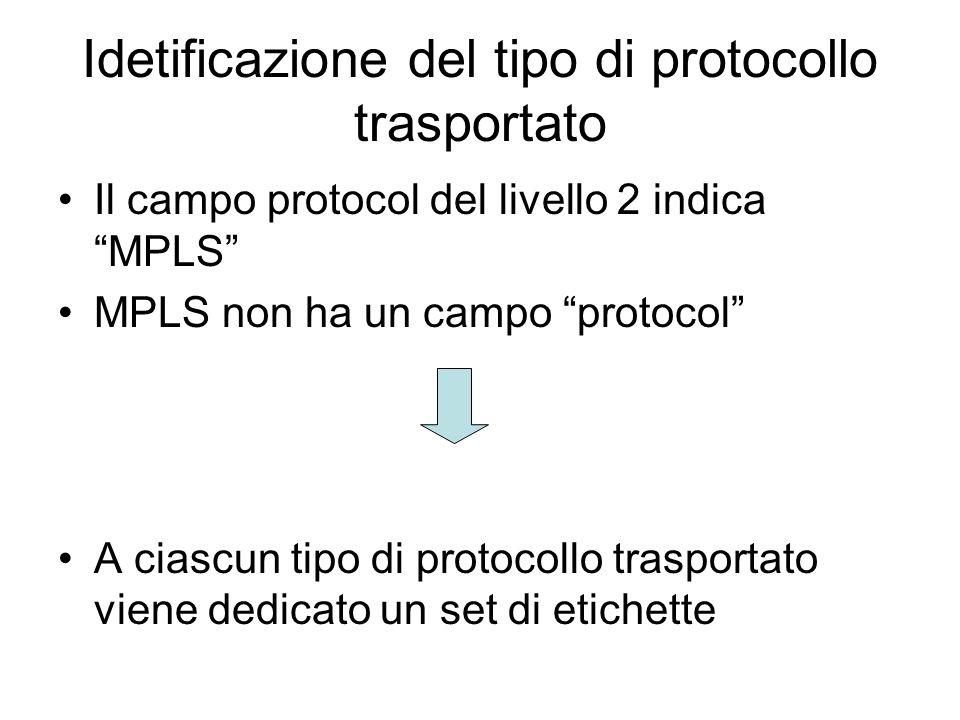 Idetificazione del tipo di protocollo trasportato