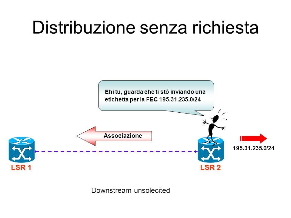 Distribuzione senza richiesta
