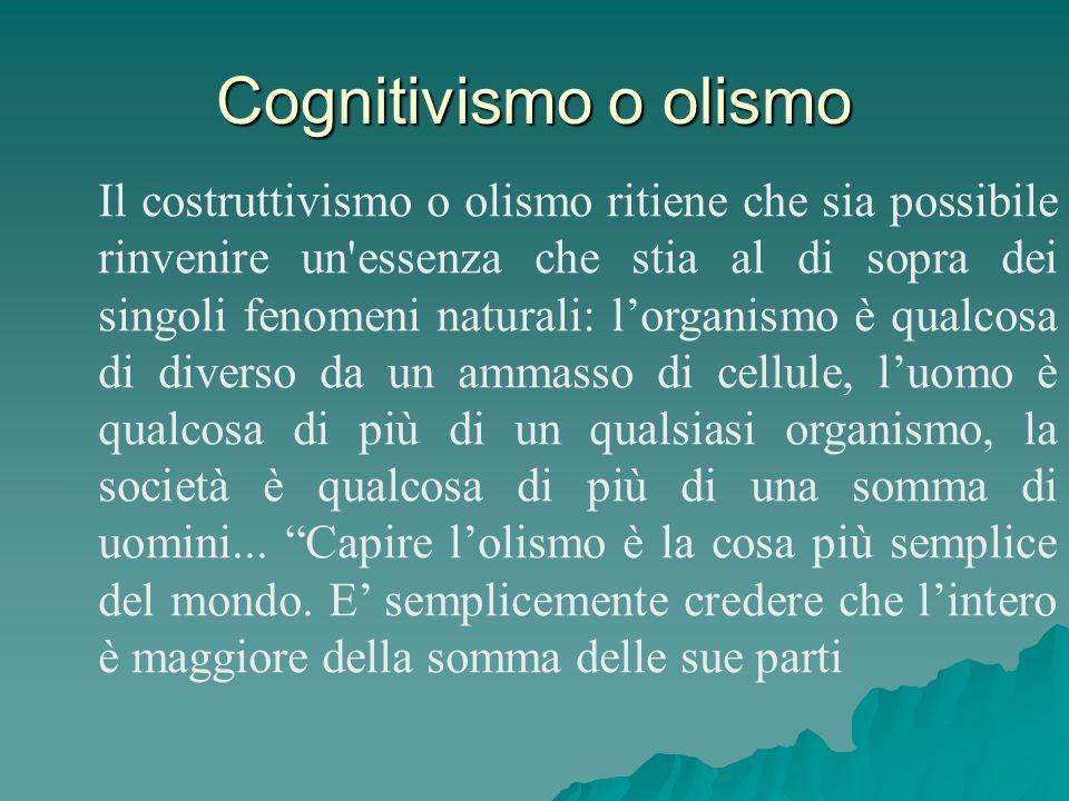 Cognitivismo o olismo