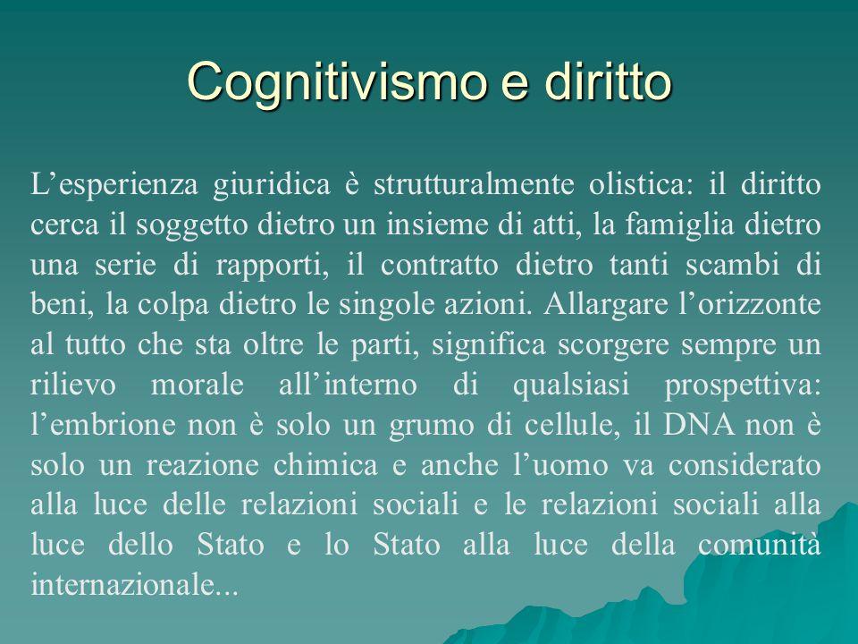 Cognitivismo e diritto