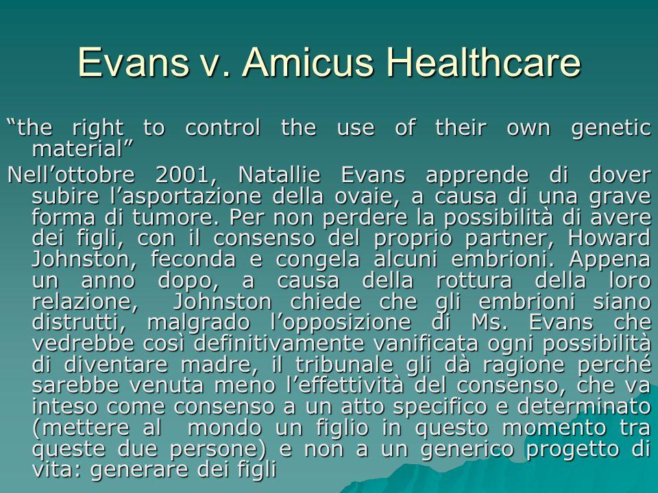 Evans v. Amicus Healthcare