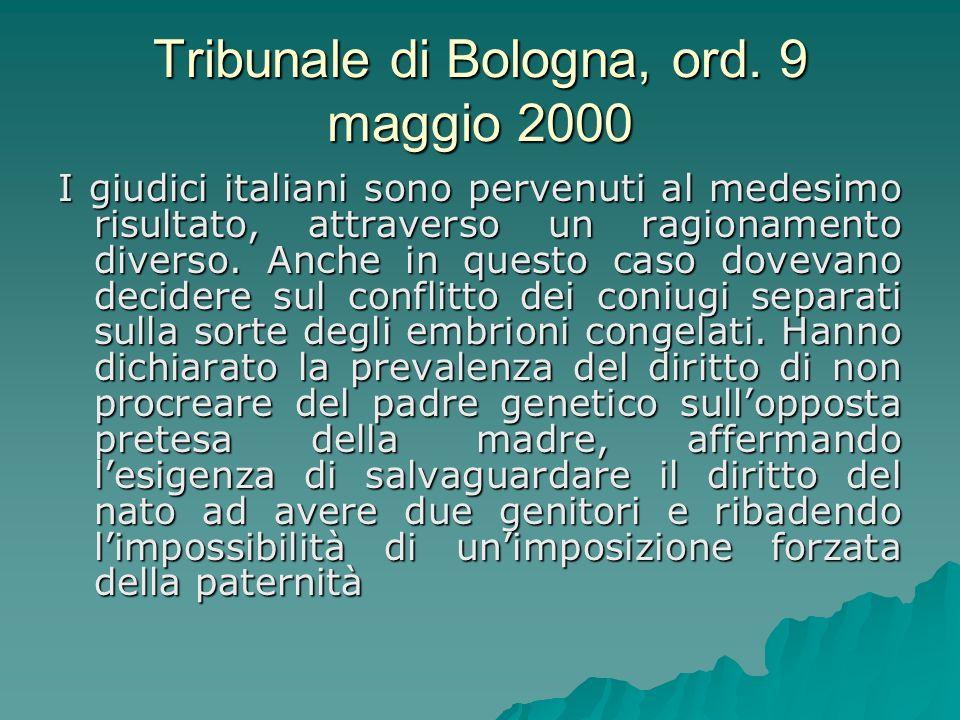 Tribunale di Bologna, ord. 9 maggio 2000