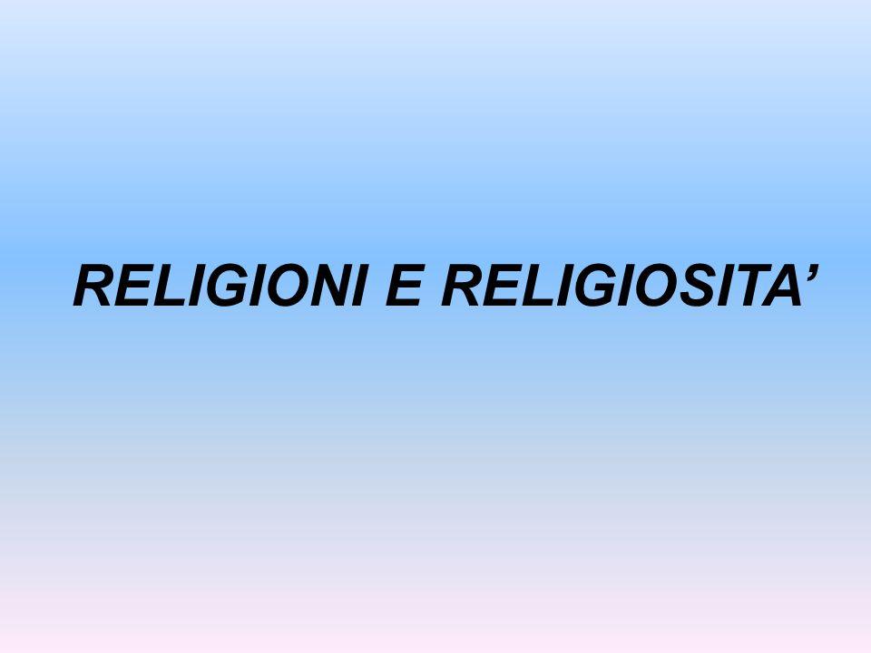 RELIGIONI E RELIGIOSITA'