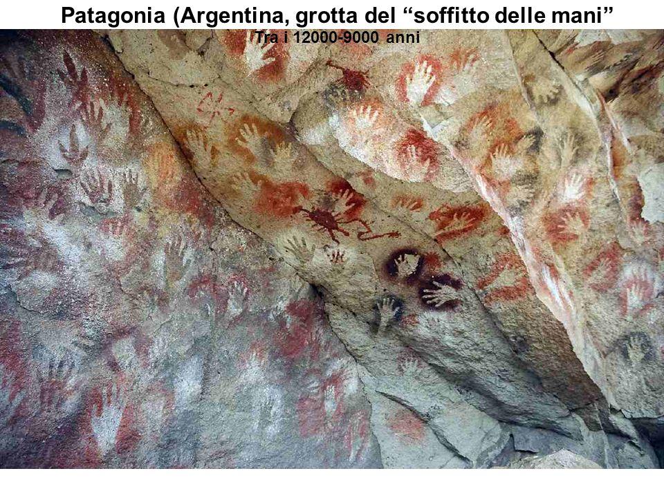 Patagonia (Argentina, grotta del soffitto delle mani