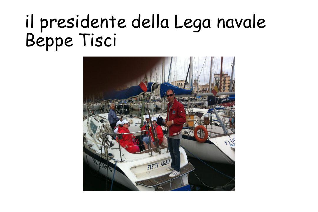 il presidente della Lega navale Beppe Tisci