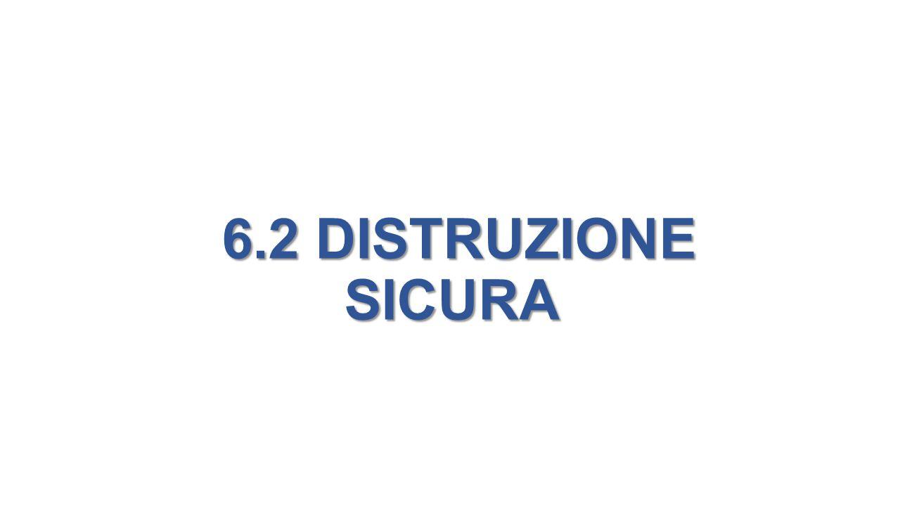 6.2 DISTRUZIONE SICURA