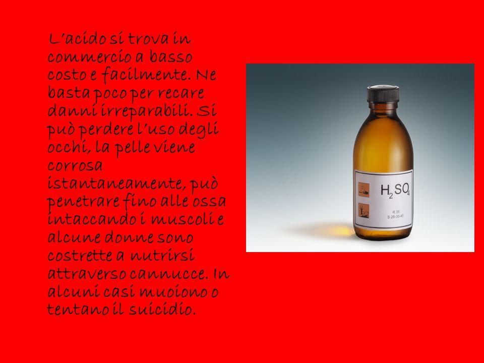 L'acido si trova in commercio a basso costo e facilmente