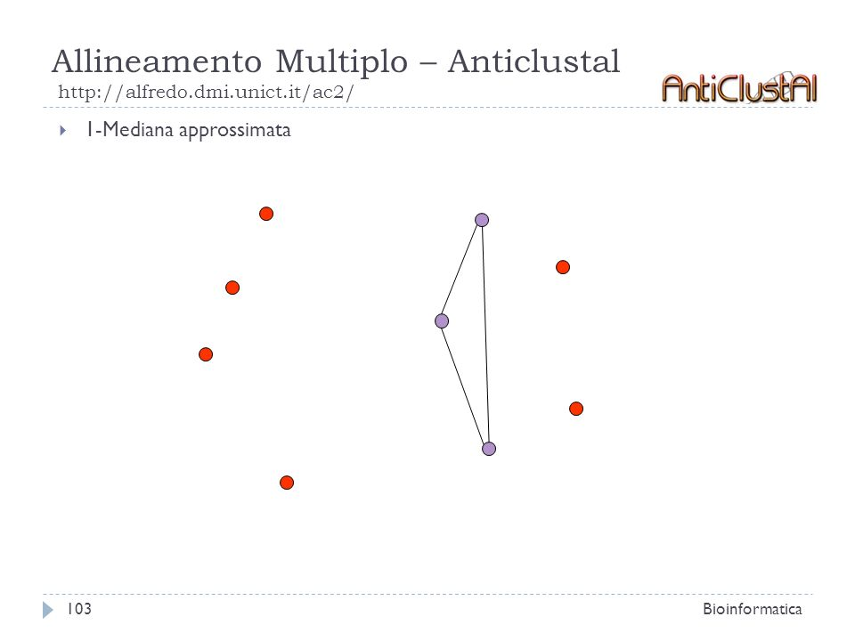 Allineamento Multiplo – Anticlustal http://alfredo.dmi.unict.it/ac2/