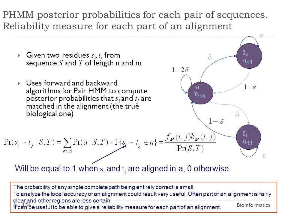 PHMM posterior probabilities for each pair of sequences
