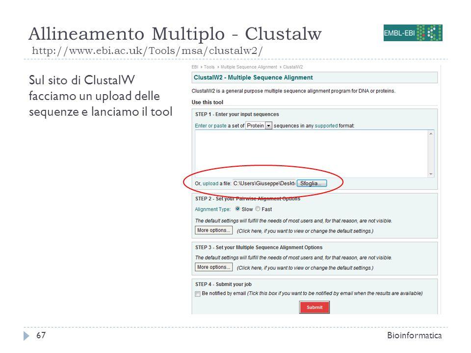 Allineamento Multiplo - Clustalw http://www. ebi. ac