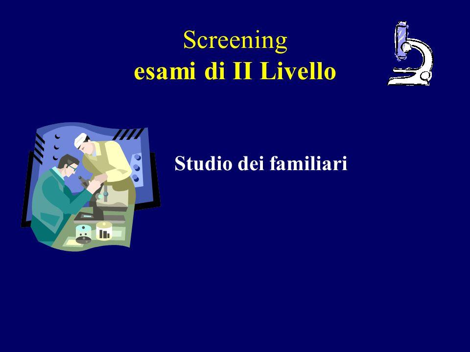 Screening esami di II Livello