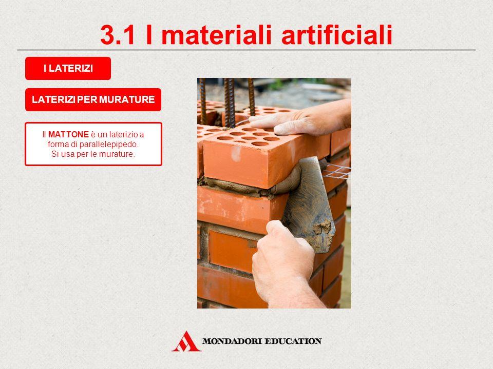 3.1 I materiali artificiali
