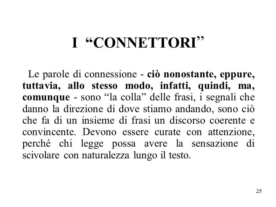 I CONNETTORI