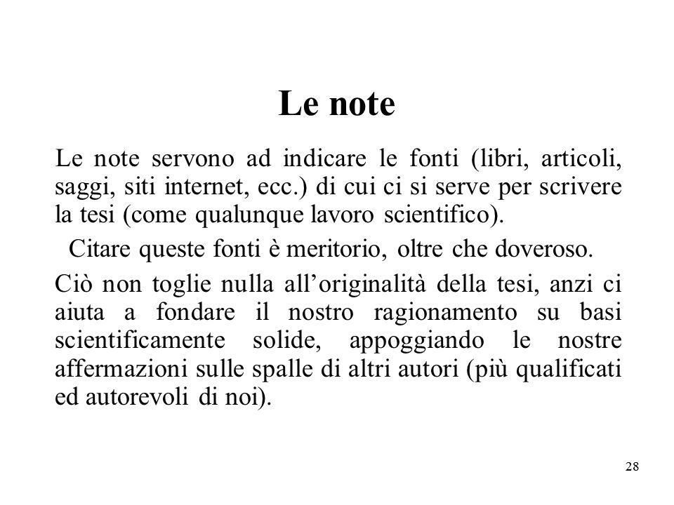 Le note