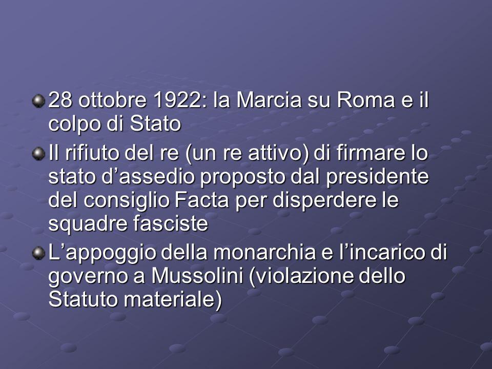 28 ottobre 1922: la Marcia su Roma e il colpo di Stato