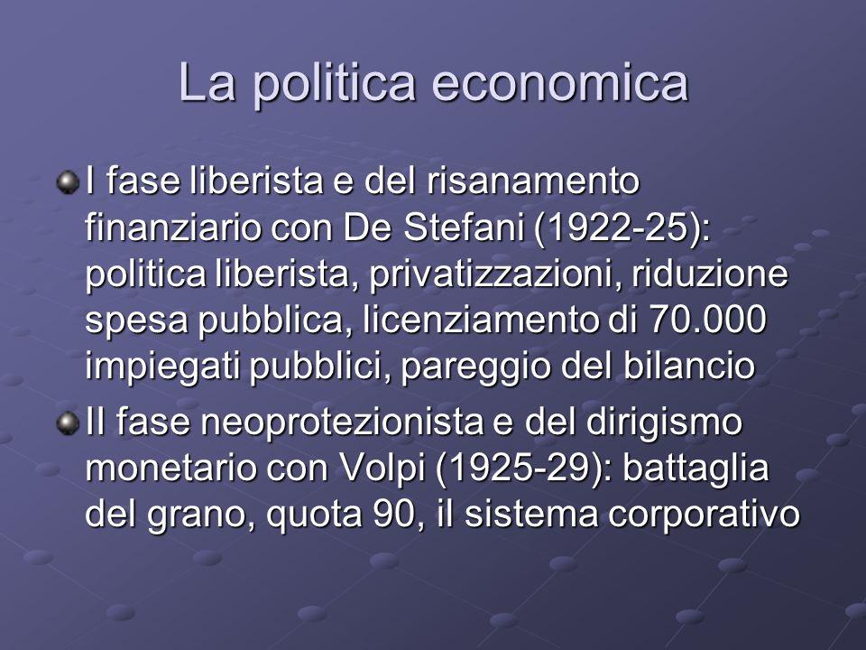 La politica economica