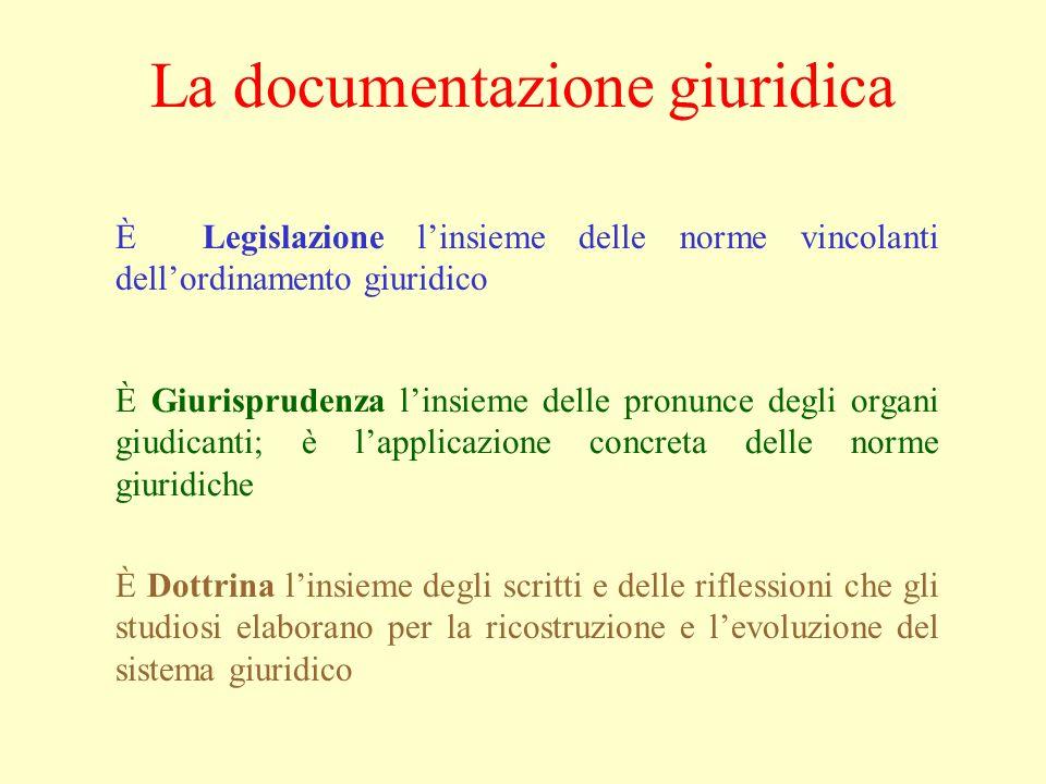 La documentazione giuridica