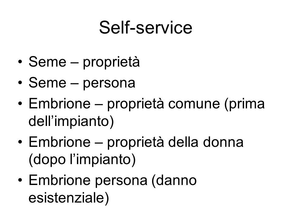 Self-service Seme – proprietà Seme – persona