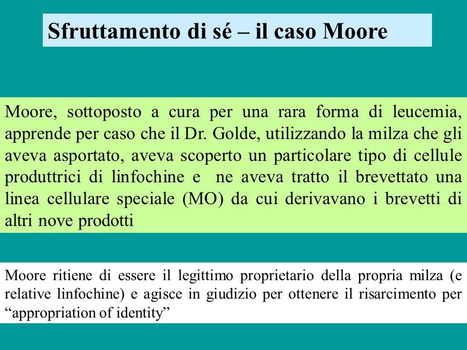 Sfruttamento di sé – il caso Moore