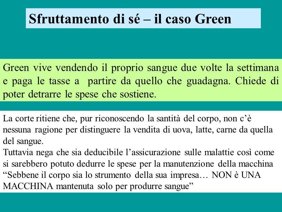 Sfruttamento di sé – il caso Green