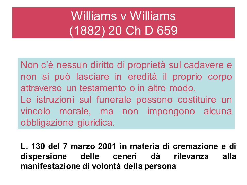 Williams v Williams (1882) 20 Ch D 659