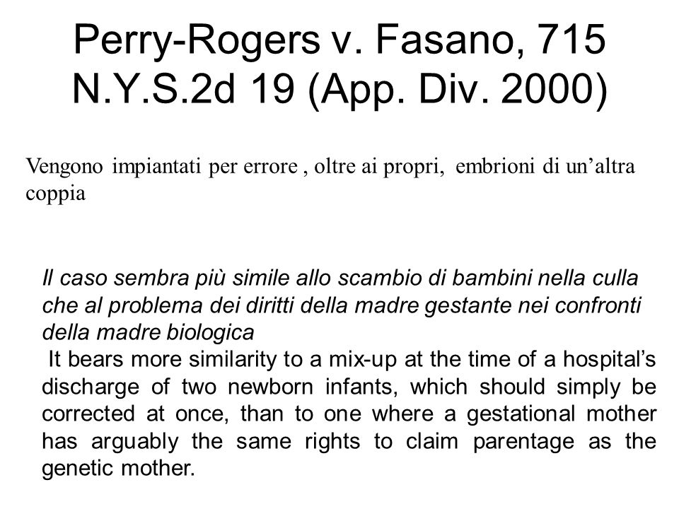 Perry-Rogers v. Fasano, 715 N.Y.S.2d 19 (App. Div. 2000)