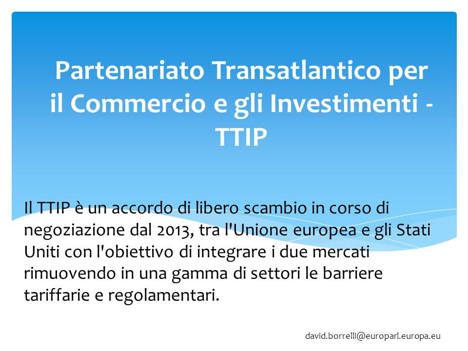 Partenariato Transatlantico per il Commercio e gli Investimenti - TTIP