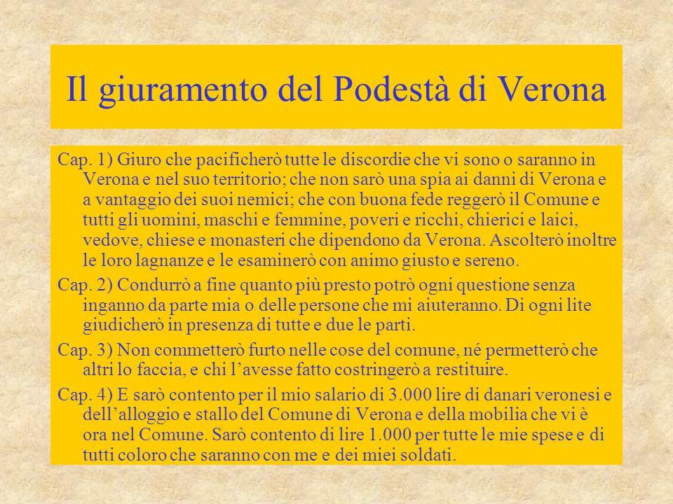 Il giuramento del Podestà di Verona