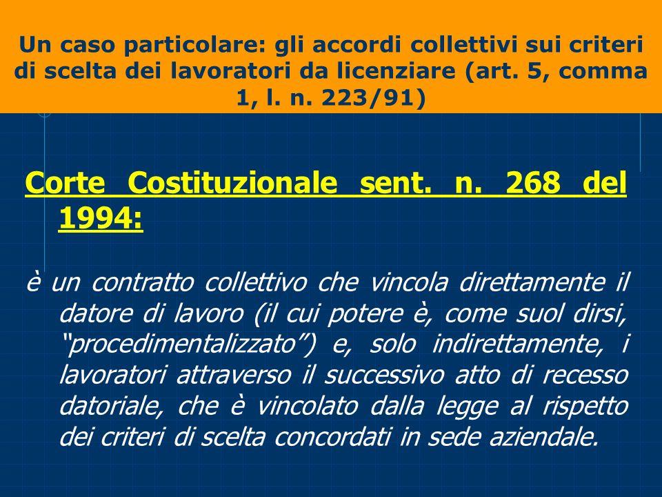 Corte Costituzionale sent. n. 268 del 1994: