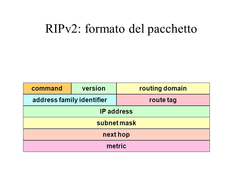 RIPv2: formato del pacchetto