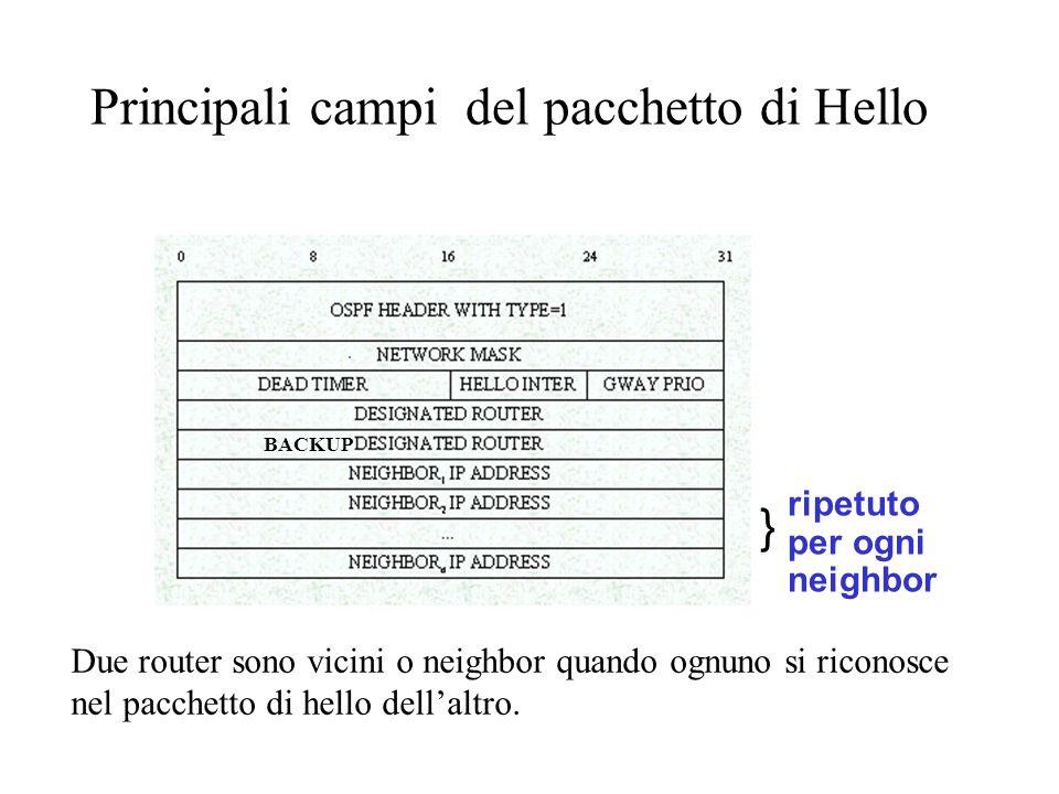 Principali campi del pacchetto di Hello