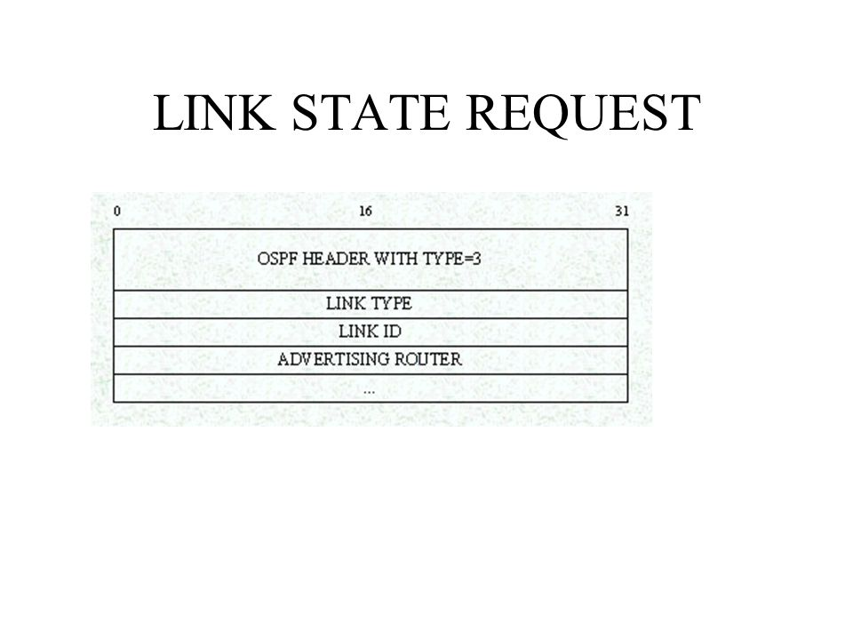 LINK STATE REQUEST
