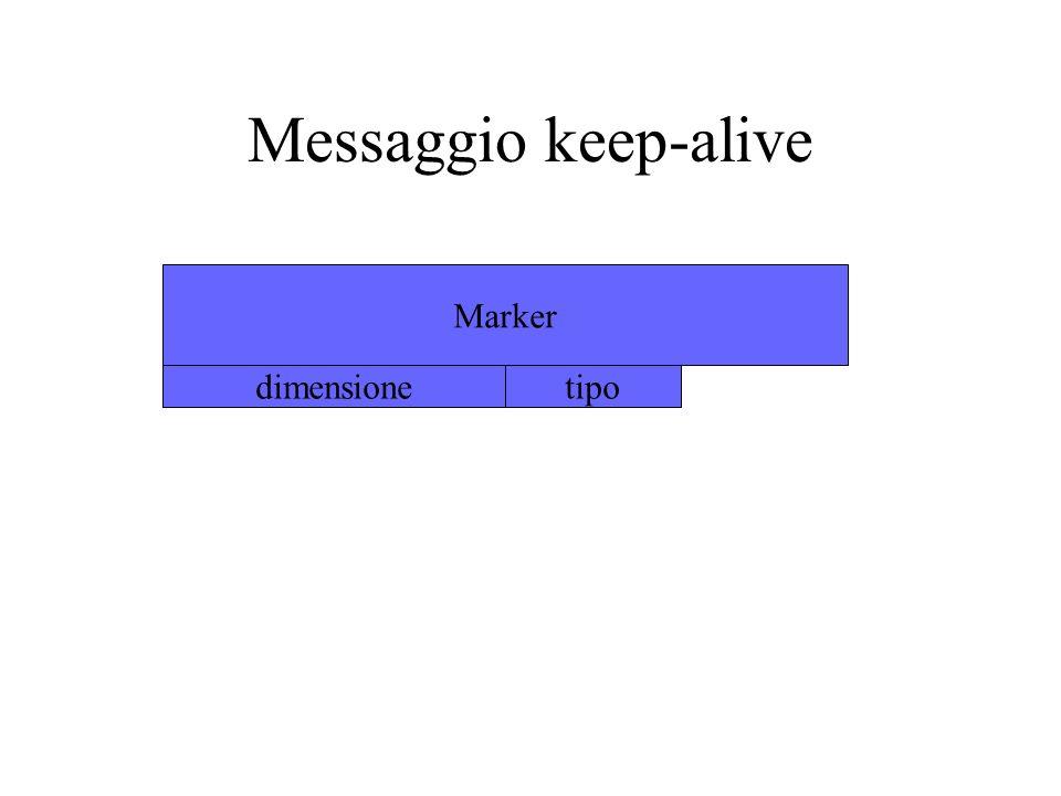 Messaggio keep-alive Marker dimensione tipo