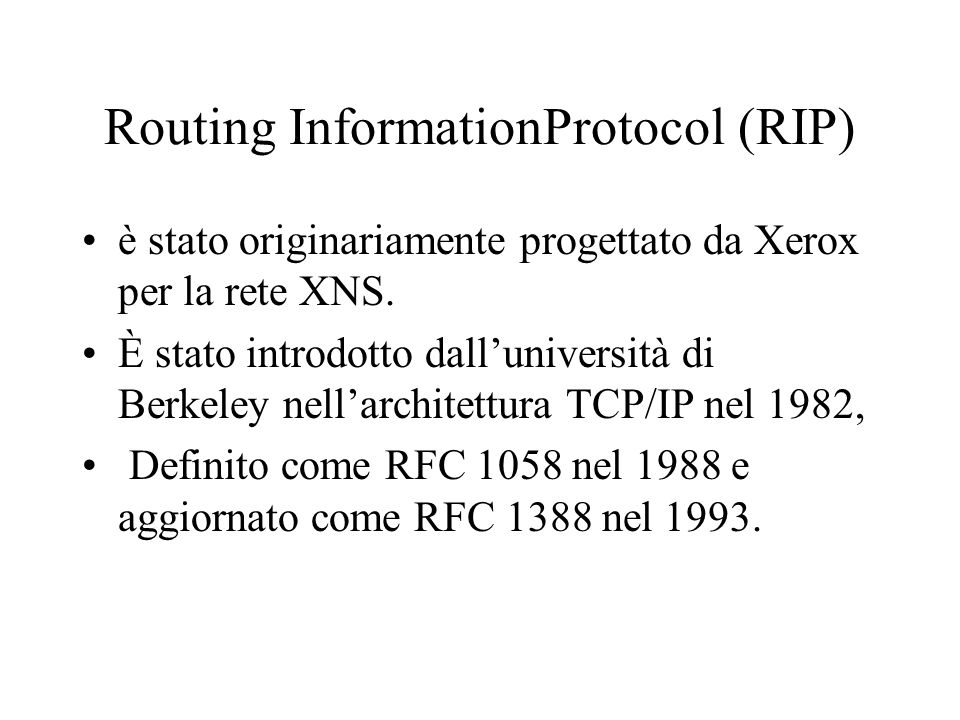 Routing InformationProtocol (RIP)
