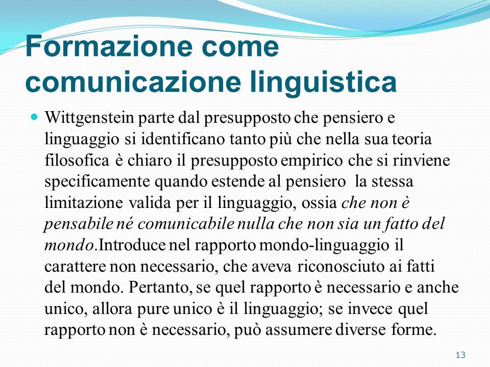 Formazione come comunicazione linguistica