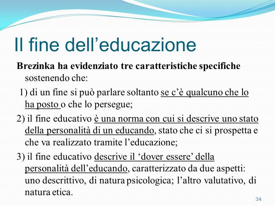 Il fine dell'educazione
