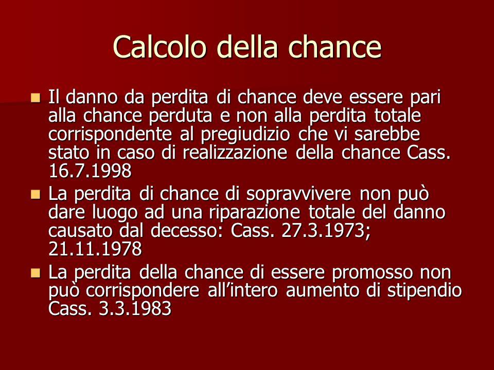 Calcolo della chance