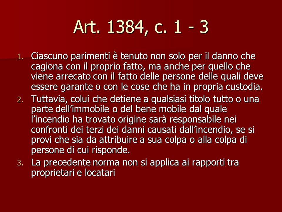 Art. 1384, c. 1 - 3