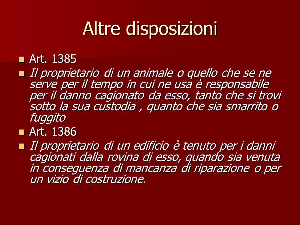 Altre disposizioni Art. 1385