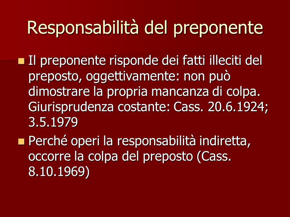Responsabilità del preponente