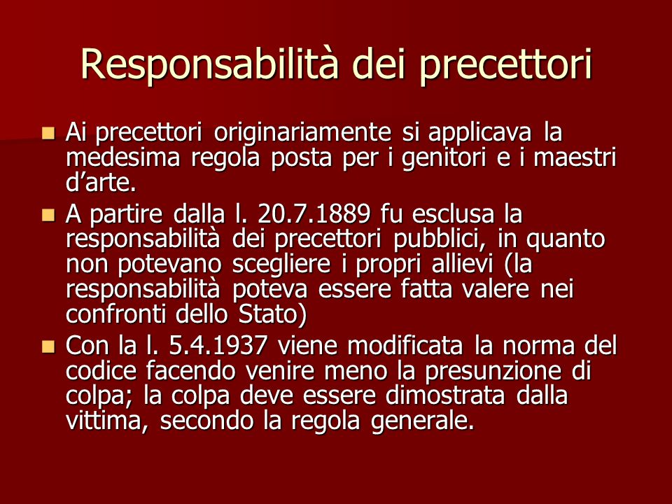 Responsabilità dei precettori