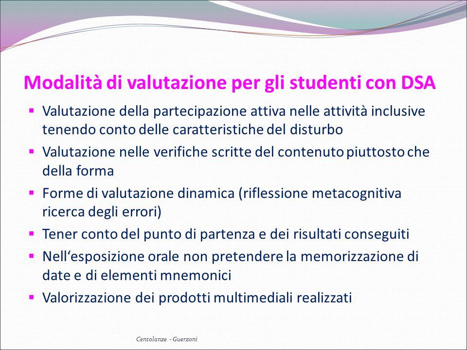 Modalità di valutazione per gli studenti con DSA